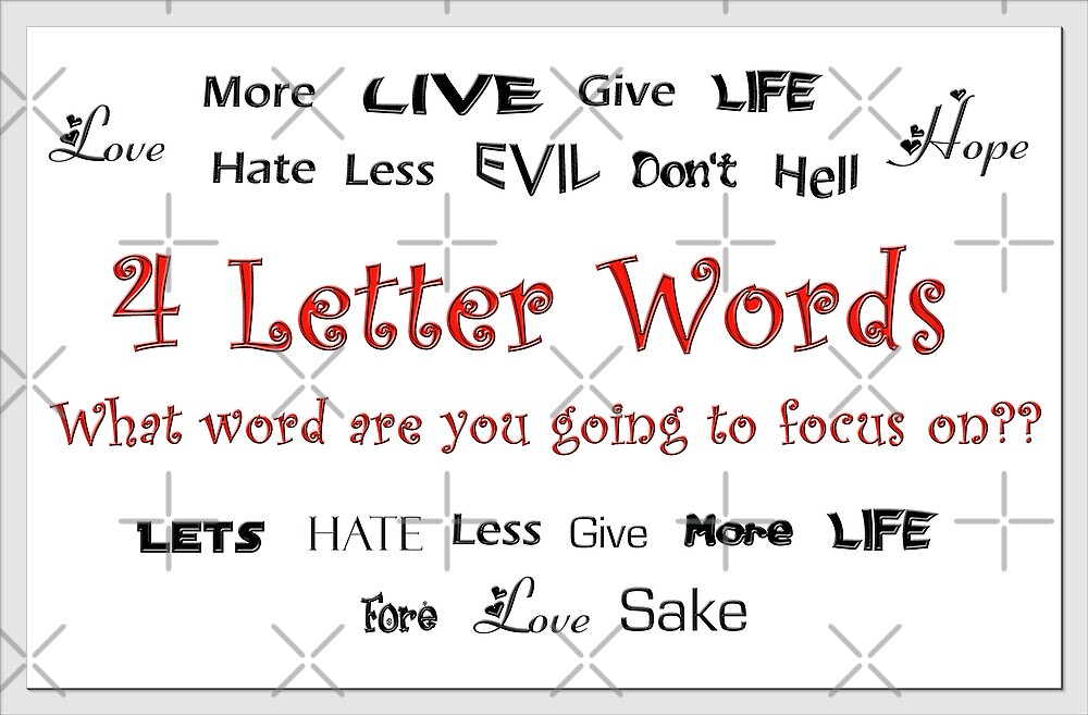 4 Letter Words by Tammy Soulliere