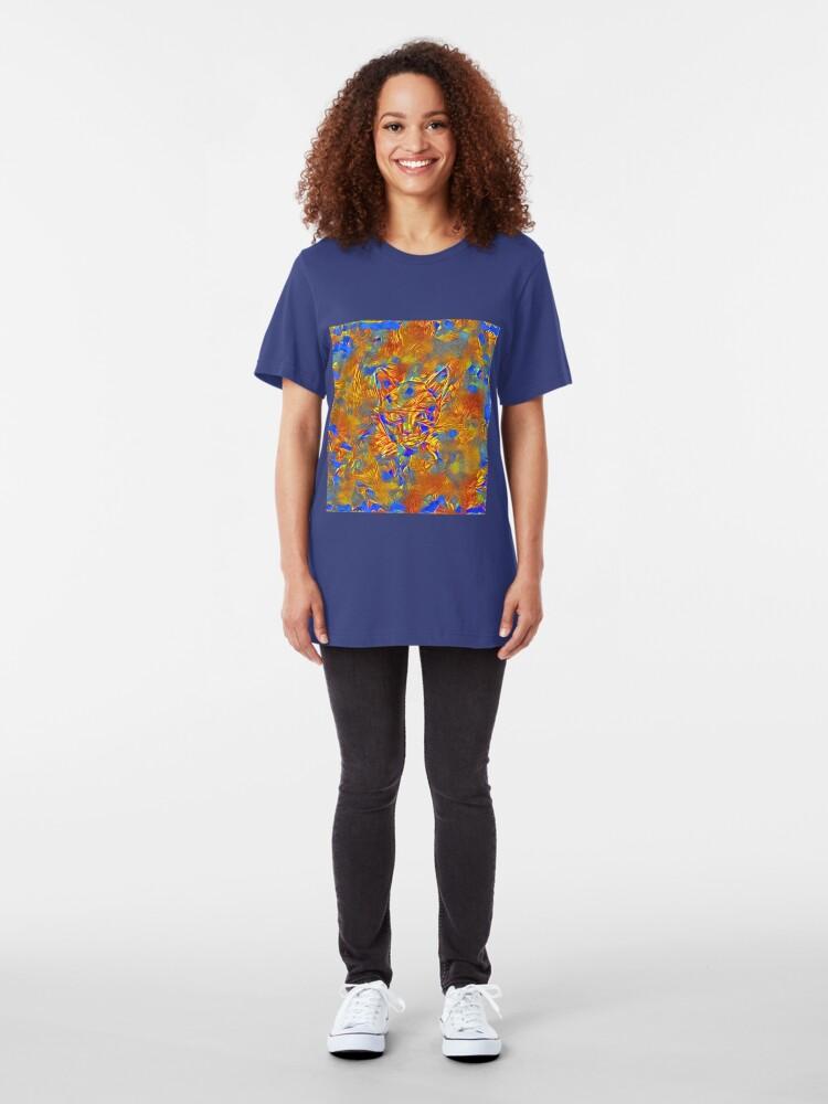 Alternate view of Another Ninja cat hiding #Art Slim Fit T-Shirt
