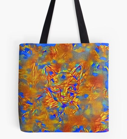 Another Ninja cat hiding #Art Tote Bag