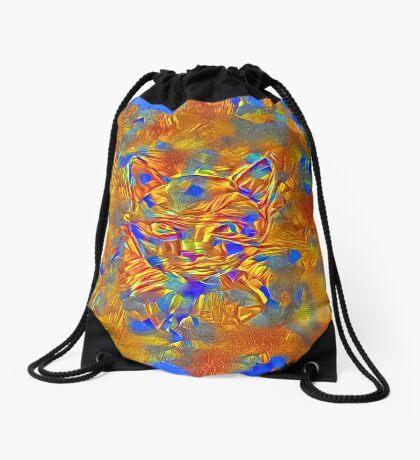 Another Ninja cat hiding #Art Drawstring Bag