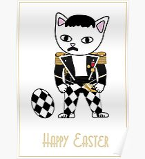 Happy Easter - Freddie Meow Poster