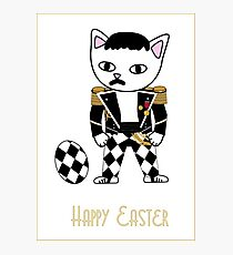 Happy Easter - Freddie Meow Photographic Print