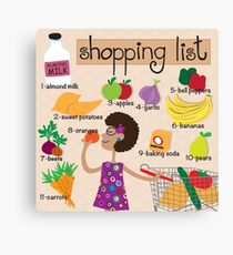 Food Shopping Canvas Print