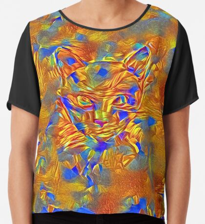 Another Ninja cat hiding #Art Chiffon Top