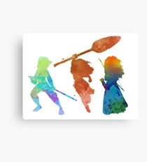 Powerful Princesses Inspired Silhouette Canvas Print