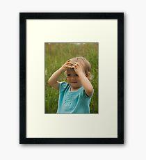 Holding Framed Print