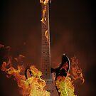 Burning guitar by Andreas  Berheide