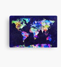 World map canvas prints redbubble world map urban watercolor canvas print gumiabroncs Gallery