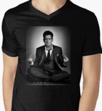 Keine Ficks gegeben T-Shirt mit V-Ausschnitt für Männer