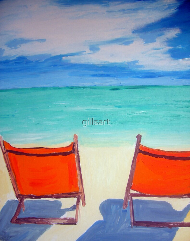 Beach art by gillsart