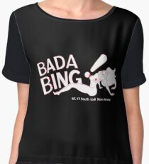 Bada Bing - Standard Logo & Address Chiffon Top