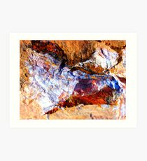 Red Rock Abstract Art Print