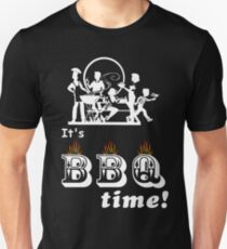 Barbecue Party Time Slim Fit T-Shirt