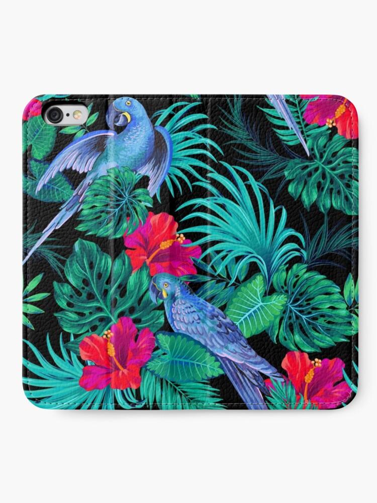 Alternative Ansicht von blaue Macaw Papageien. iPhone Flip-Case