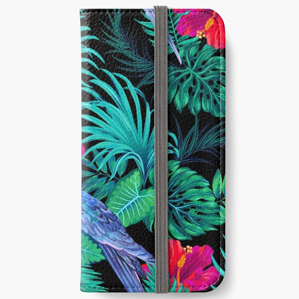blaue Macaw Papageien. iPhone Flip-Case