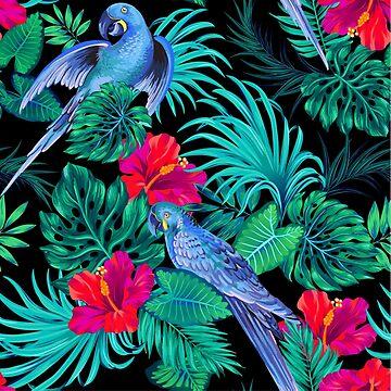 blue macaw parrots.  by belokrinitski