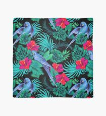blue macaw parrots.  Scarf