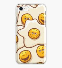 Fried Eggs Background Seamless iPhone Case/Skin