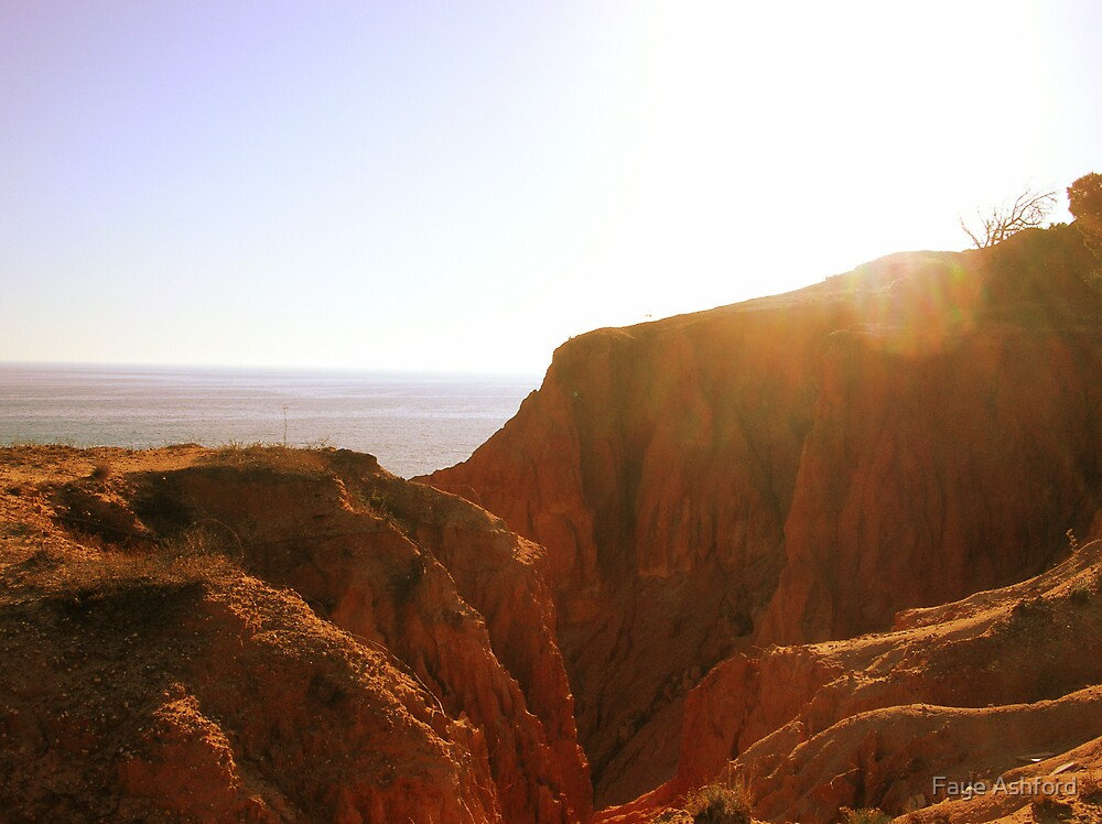 Red Cliffs At Sunset by Faye Ashford