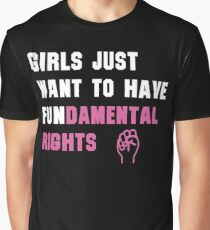 Cyndi Lauper's Official Girls Just Want to Have Fundamental Rights Shirt Graphic T-Shirt