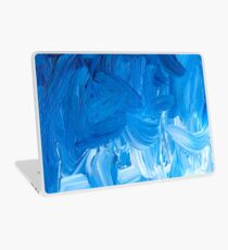 ANDREA RUSSET LAPTOP CASE BLUE ACRYLIC PAINTING ABSTRACT Laptop Skin