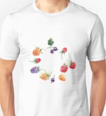 Summer berries. Forest berries, watercolor. T-Shirt