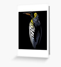 Tribal penguin Greeting Card