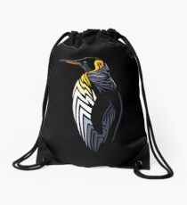 Tribal penguin Drawstring Bag