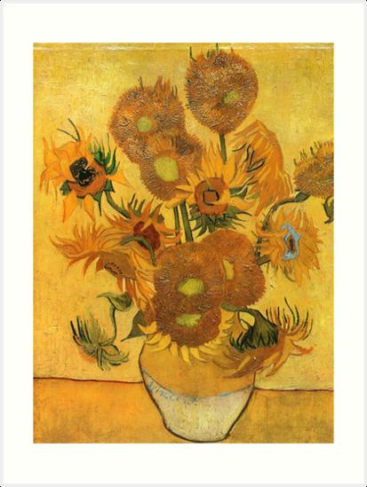 Sunflowers Vincent Van Gogh Famous Paintings Impressionist Art