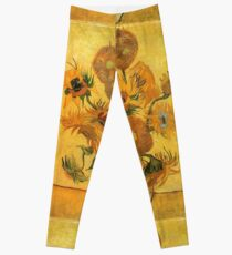 Sunflowers Vincent van Gogh Famous Paintings Impressionist Leggings