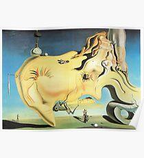 Salvador Dali Great Masturbator Surrealism Famous Paintings Poster