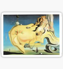 Salvador Dali Great Masturbator Surrealism Famous Paintings Sticker