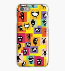Funny and crazy cartoon monsters iPhone Case/Skin