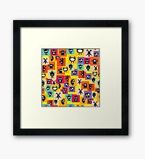 Funny and crazy cartoon monsters Framed Print