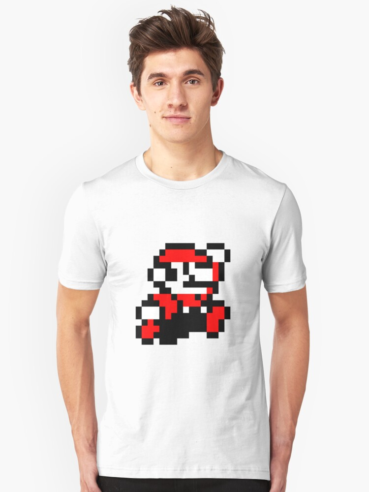 invader_mario Unisex T-Shirt Front