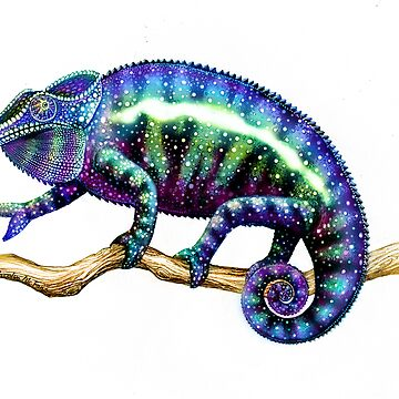 Colorful Chameleon by twopurringcats