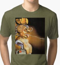 Salvador Dali Surrealist Portrait Famous Painters Tri-blend T-Shirt