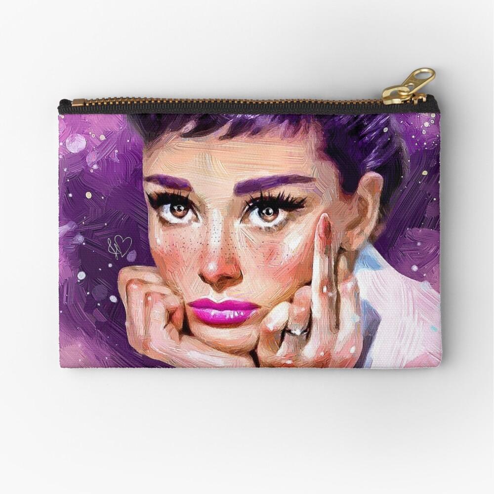 Audrey Hepburn Zipper Pouch