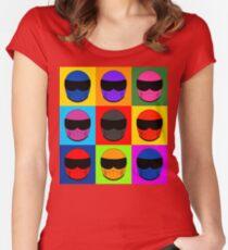 Warhol Race Helmet Women's Fitted Scoop T-Shirt