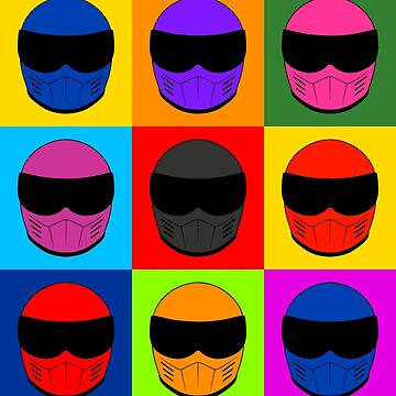 Warhol Race Helmet by Alienxpres51