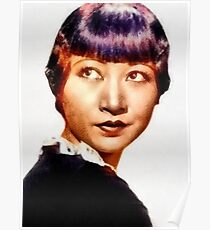 Anna May Wong, Vintage Hollywood Actress Poster