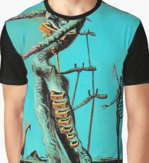 Salvador Dali Burning Giraffe Surreal Famous Painters Graphic T-Shirt