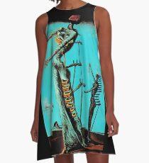 Salvador Dali Burning Giraffe Surreal Famous Painters A-Line Dress