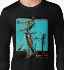 Camiseta de manga larga Salvador Dali Burning Giraffe Surreal Famous Painters