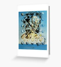 Salvadore Dali Atomic Galatea Surrealist Famous Painters Greeting Card