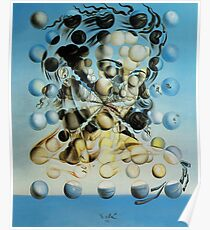 Salvadore Dali Atomic Galatea Surrealist Famous Painters Poster