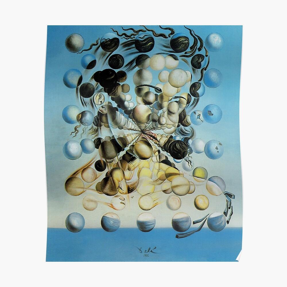 Salvadore Dali Atomic Galatea Surrealist Berühmte Maler Poster