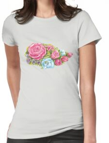 bouquet of pink rose Womens Fitted T-Shirt