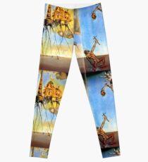 Salvador Dali Versuchung des St. Anthony Surrealismus Berühmte Maler Leggings