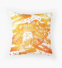 Untold Story Throw Pillow